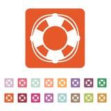 The lifebuoy icon. Lifebelt symbol. Flat Stock Photo