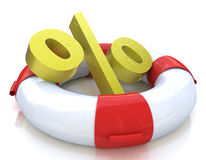 Lifebuoy and percentage Stock Photography
