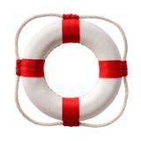 Lifebuoy. Isolated objects: white-red lifebuoy, isolated on white background Stock Images