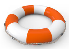 Lifebuoy. Isolated on white Stock Images