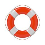 Lifebuoy Isolated on White. Stock Images