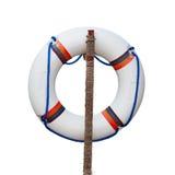 Lifebuoy isolated on white Royalty Free Stock Photos