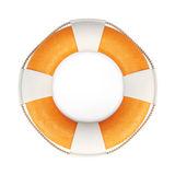 Lifebuoy isolated on white background. 3d. Royalty Free Stock Photo