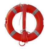 Lifebuoy isolated on white. With Clipping Path Stock Photos