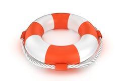 Lifebuoy isolated on white. 3d lifebuoy  on white background Royalty Free Stock Photo