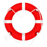 Lifebuoy, isolated on white, vector Royalty Free Stock Image