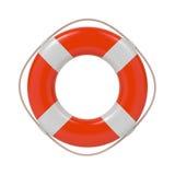 Lifebuoy isolerade på vit. Arkivbilder
