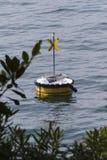 Lifebuoy on the lake Royalty Free Stock Photo