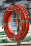 Lifebuoy on the lake Stock Photography