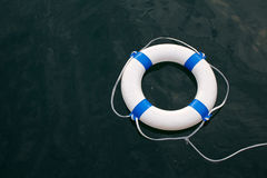 Lifebuoy, lifebelt on sea as safe, help, hope, protection concep Stock Photography