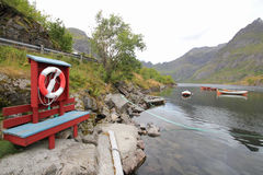 Lifebuoy  Lofoten's boats Stock Photography