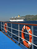 Lifebuoy, luxury cruise ship Stock Image