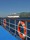 Lifebuoy, luxury cruise ship stock image