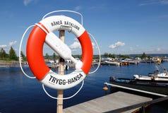 Lifebuoy in marina Royalty Free Stock Photo