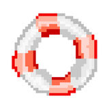 Lifebuoy for mobile games and applications. Pixel lifebuoy for mobile games and applications royalty free illustration