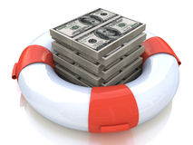 Lifebuoy and money Royalty Free Stock Image