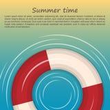 Lifebuoy na błękitnym tle Fotografia Royalty Free