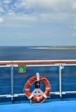 Lifebuoy na Królewskim Princess statku Obrazy Royalty Free