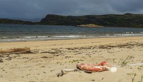 Lifebuoy na praia Imagens de Stock Royalty Free