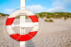 Lifebuoy na słonecznym dniu Obraz Stock
