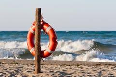 Lifebuoy nel Mediterraneo Fotografia Stock