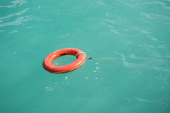 Lifebuoy in the ocean Stock Photos