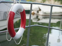 Lifebuoy. Outside at a harbour Royalty Free Stock Photography