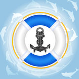 lifebuoy over vatten för delfiner Royaltyfria Foton