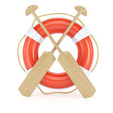 Lifebuoy and paddles Stock Images