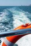 Lifebuoy on passenger ship Royalty Free Stock Image