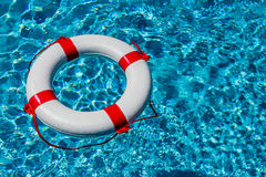 Lifebuoy in a pool Stock Image