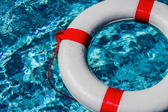 Lifebuoy in a pool Stock Photography