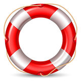 Lifebuoy. Red lifebuou isolated on white background. High detailed vector Royalty Free Stock Images