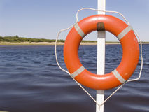 Lifebuoy ring. On a ferry Stock Image
