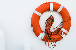 Lifebuoy ring onboard the ship Stock Photography