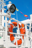 Lifebuoy ring onboard the ship Royalty Free Stock Photos
