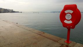 Lifebuoy Ring on Santander Shore royalty free stock image