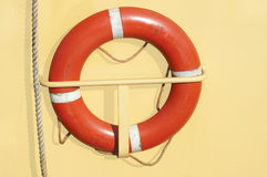 Lifebuoy and rope Stock Images