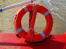 Lifebuoy with rope Stock Photography