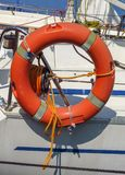 Lifebuoy with rope Royalty Free Stock Photography