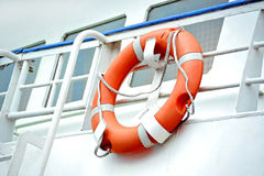 Lifebuoy with rope Royalty Free Stock Image