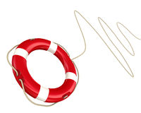 Lifebuoy with rope Stock Photos