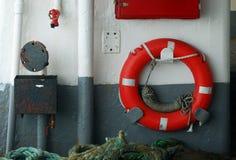 Lifebuoy rosso Immagini Stock Libere da Diritti
