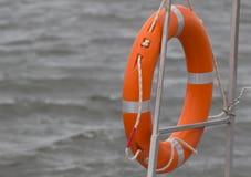 Lifebuoy rosso Fotografia Stock