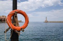 Lifebuoy rosso Fotografie Stock