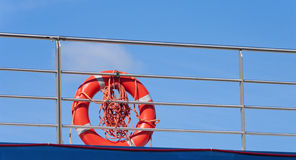 Lifebuoy rouge Images libres de droits