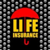 Lifebuoy rouge avec l'être humain d'isolement sur le fond blanc Protection contre l'accident et la mort Photographie stock