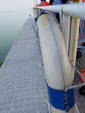 Lifebuoy rubber ring. On passenger boat Royalty Free Stock Photos