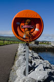 Lifebuoy in rural area Stock Images