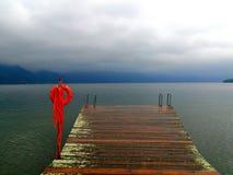 Lifebuoy and sadness lake Royalty Free Stock Photos